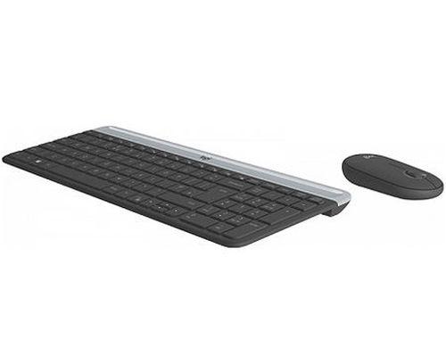 купить Logitech MK470 Slim Wireless Keyboard and Mouse Combo, Keyboard+Mouse, 920-009206 (set fara fir tastatura+mouse/беспроводной комплект клавиатура+мышь) в Кишинёве