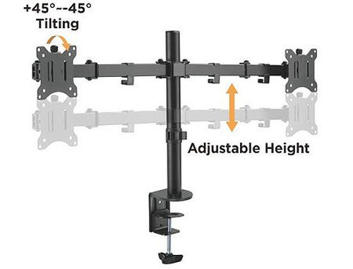 "купить Brateck LDT42-C024 Dual Monitors Steel Articulating Monitor Arm, for 2 monitors, Clamp-on, 17""-32"", +45 в Кишинёве"