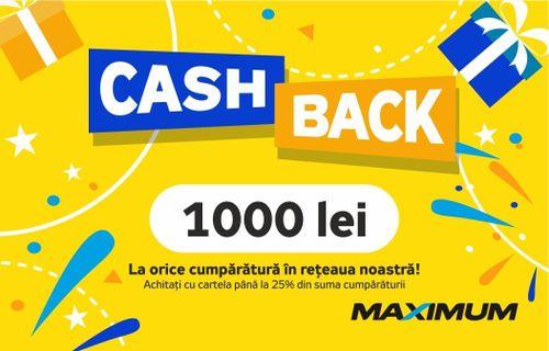 cumpără Certificat - cadou Maximum CashBack 1000 în Chișinău