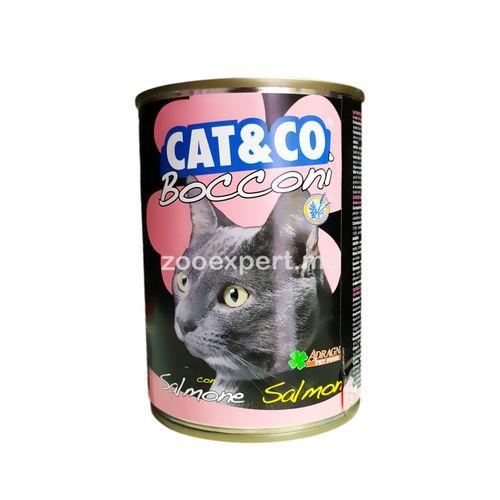 купить Cat & Co кусочки лосося 405 gr в Кишинёве