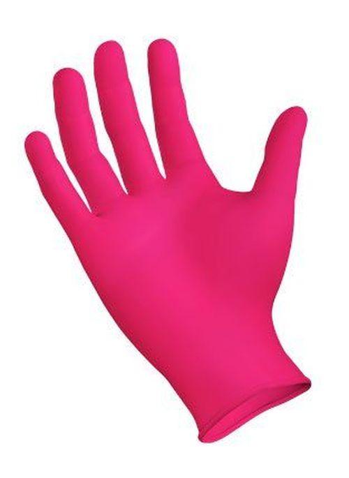 купить Перчатки  из нитрила без талька  - розовые * 100 шт. в Кишинёве
