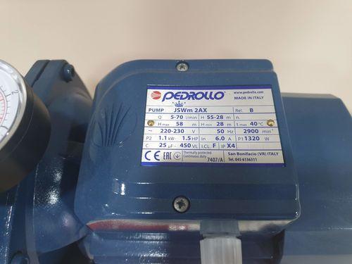 купить Гидрофор PEDROLLO JSWm2 AX-24CL 1.1кВт 9м (Защита) в Кишинёве
