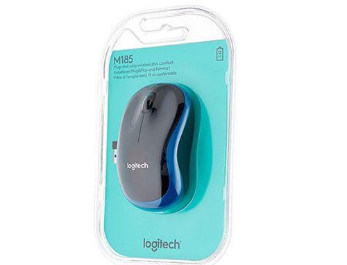 купить Logitech M185 Blue Wireless Mouse USB, 910-002239 (mouse fara fir/беспроводная мышь) в Кишинёве