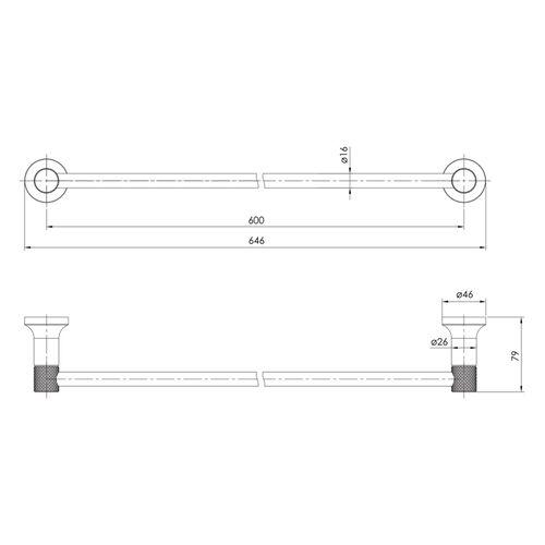 BRENTA полотенцедержатель 600 мм, хром