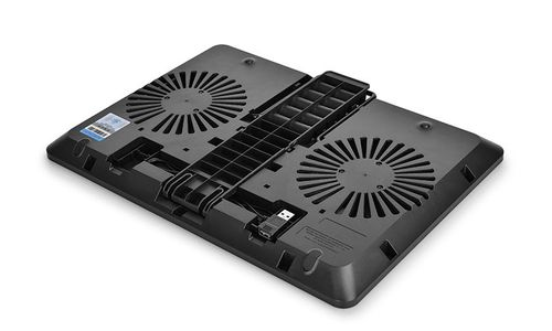 "cumpără DEEPCOOL ""U-PAL"", Notebook Cooling Pad up to 15.6"", 2 fan - 140mm, 1000rpm, <26dBA, 92.2CFM, 6 viewing Angles Adjustable, U Shape Design, USB 3.0 pass-through connector, Black în Chișinău"