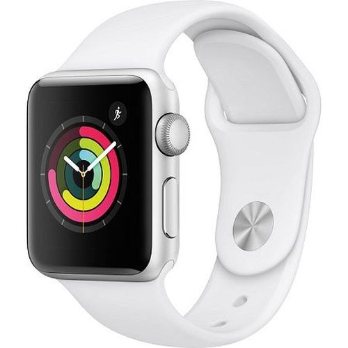купить Apple Watch Series 3 38mm Smartwatch (GPS Only, Silver Aluminum Case, White Sport Band) в Кишинёве
