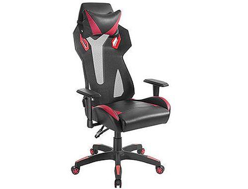 cumpără Lumi Gaming Chair Back Breathable Mech with Headrest CH06-8, Black/Red, Height Adjustable Armrest, 350mm Nylon Base, 60mm Nylon Caster, 100mm Class 3 Gas Lift, Weight Capacity 150 Kg în Chișinău