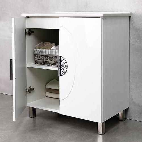 купить Stillo Шкаф белый под умывальник Atria 750 в Кишинёве