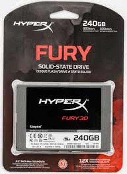 "cumpără 2.5"" SSD 240GB HyperX FURY 3D, SATAIII, Sequential Reads: 500 MB/s, Sequential Writes: 500 MB/s, Max Random 4k: Read: 84,000 IOPS / Write: 52,000 IOPS, 7mm, Controller Silicone Motion SM2258XT, 3D NAND TLC în Chișinău"