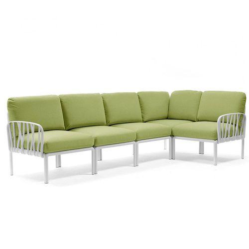 купить Диван с подушками Nardi KOMODO 5 BIANCO-avocado Sunbrella 40370.00.139 (Диван с подушками для сада и терас) в Кишинёве