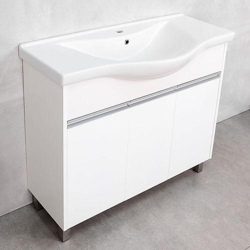 купить Elina Шкаф белый структурный с умывальником Alba 1000 в Кишинёве