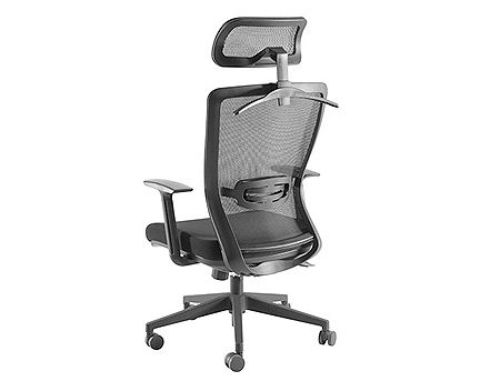 купить Lumi Premium High-Back Mesh Office Chair CH05-5, Black, Adjustable Tilt Back, Adjustable Headrest, Adjustable Lumbar Cushion, 340mm Nylon Base, 50mm PU Caster, 80mm Class 3 Gas Lift, Weight Capacity в Кишинёве