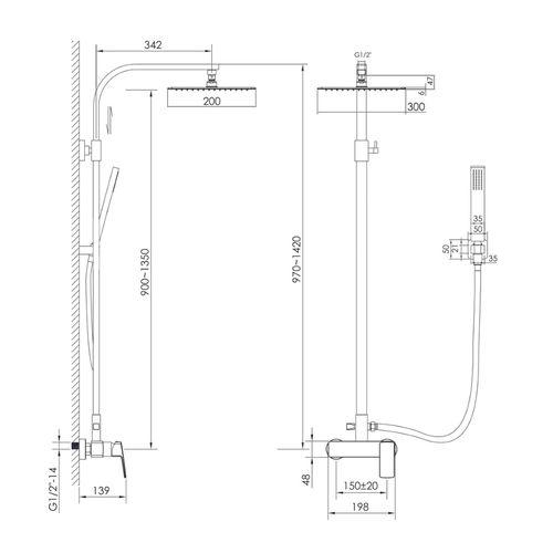 GRAFIKY система душевая для душа (ванная комната)
