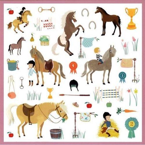 купить Djeco Stickers Horses в Кишинёве
