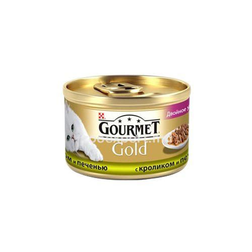 купить Gourmet Gold с кроликом и печенью 85 gr в Кишинёве