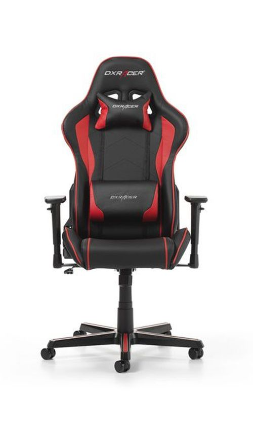 купить Gaming Chairs DXRacer - Formula GC-F08-NR-H1, Black/Black/Red - PU leather, Gamer weight up to 100kg / growth 145-180cm, Foam Density 52kg/m3, 5-star Aluminum IC Base, Gas Lift 4 Class, Recline 90*-135*, Armrests: 3D, Pillow-2, Caster-2*PU, W-23kg в Кишинёве