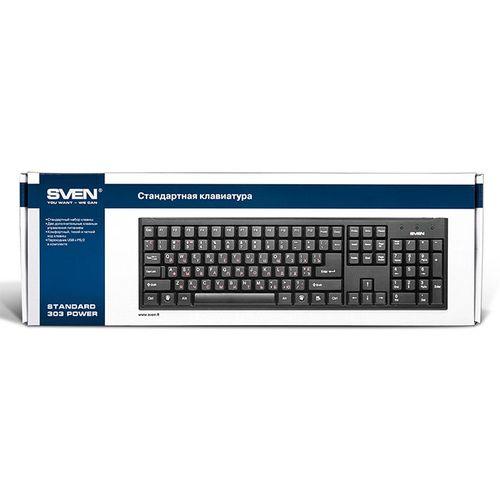 купить SVEN Standard 303 Power USB+PS/2, Keyboard, Black в Кишинёве