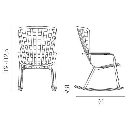 купить Лаунж-кресло Nardi FOLIO TORTORA 40300.10.000.04 (Лаунж-кресло для сада и террасы) в Кишинёве