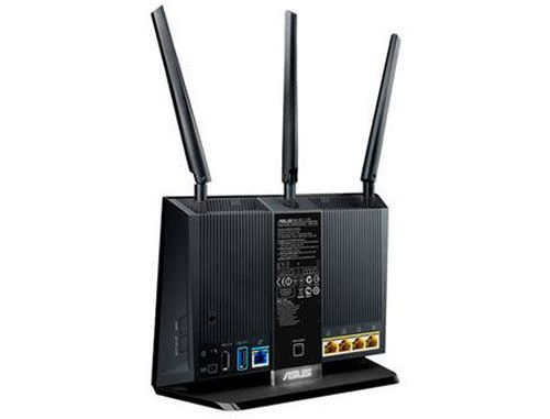 купить ASUS RT-AC68U, Dual-band Wireless-AC1900 Gigabit Router, dual-band 2.4GHz/5GHz for up to super-fast 1.9Gbps, 256MB, WAN:1xRJ45 LAN: 4xRJ45 10/100/1000, 3G/4G, Firewall, 1xUSB 2.0, 1xUSB 3.0 (router wireless WiFi/беспроводной WiFi роутер) в Кишинёве