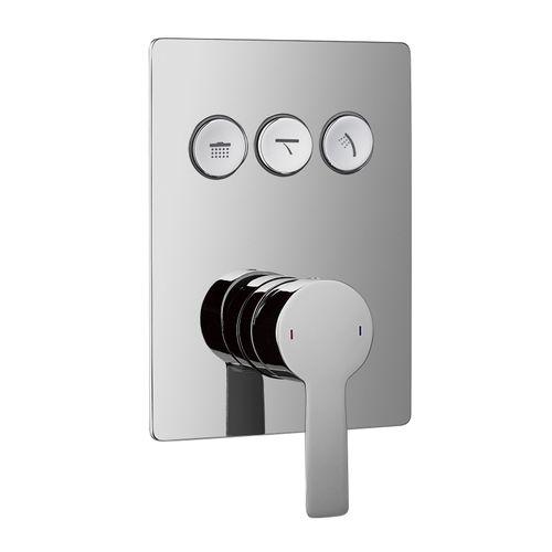 SMART CLICK смеситель для душа скрытый монтаж, 3 режима, хром (ванная комната)