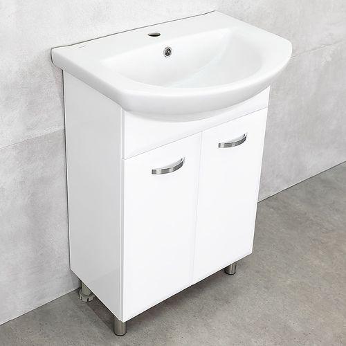 купить Tory шкаф белый хром с умывальником Libra 600 в Кишинёве