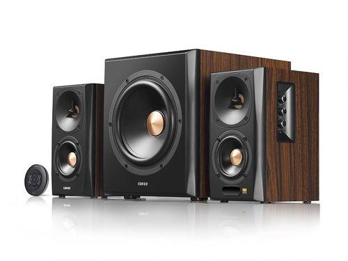 "купить Edifier S360DB Brown, HI-Res sound 2.1/ 150W (75W+ 2x40W) RMS, Audio In: Bluetooth 4.1 aptX Wireless Sound, RCA x2, PC, AUX, optical, coaxial, remote control, all wooden, (sub.8"" + satl.(3,5""+1"")) в Кишинёве"