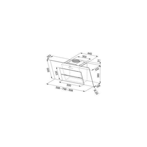 купить Вытяжка Franke 330.0507.740 FMA 807 BK Cristallo Nero в Кишинёве