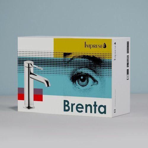 BRENTA смеситель для ванны, граф.хром, 35 мм (ванная)