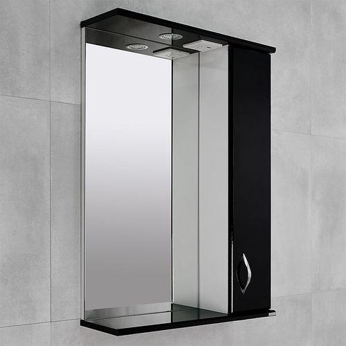 купить Aris Шкаф-зеркало Черный глянец 600 R в Кишинёве