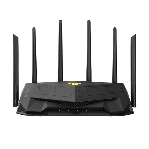 купить Игровой Wi-Fi роутер маршрутизатор ASUS TUF Gaming AX5400 Dual Band WiFi 6 Gaming Router, WiFi 6 802.11ax Mesh System, AX5400 574 Mbps+4804 Mbps, dual-band 2.4GHz/5GHz-2 for up to super-fast 5.4Gbps, dedicated Gaming Port, WAN:1xRJ45 LAN: 4xRJ45 10/100/1000, ASUS Aura RGB, USB 3.2 в Кишинёве