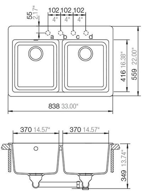 купить Мойка кухонная Schock Cristalite Madison N-200 в Кишинёве