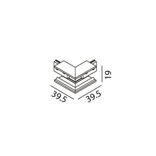 купить Соединитель накладной угловой внешний MINI_LINE42 CORNER S OUT 07.S90OUT.BK в Кишинёве