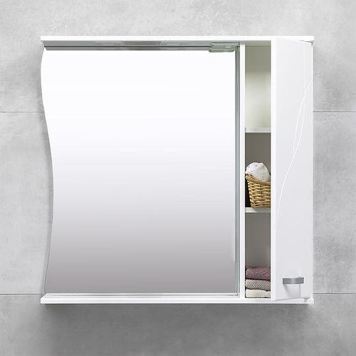 купить Шкаф-зеркало Interio белое про 870 R в Кишинёве