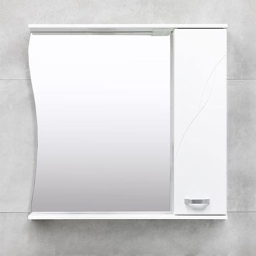 купить Interio Шкаф-зеркало белое 860 R в Кишинёве