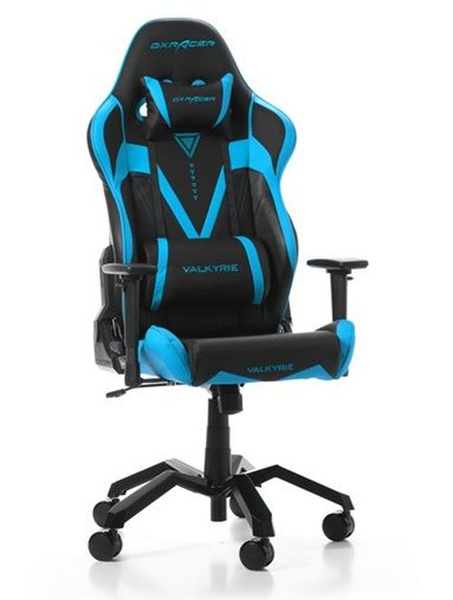 cumpără Gaming Chairs DXRacer - Valkyrie GC-V03-NB-B2, Black/Blue/Black - PU leather, Gamer weight up to 115kg/growth 165-195cm, Foam Density 50kg/m3, 5-star  Aluminium Spider, Gas Lift 4 Class, Recline 90*-135*, Armrests:4D, Pillow-2, Caster-3*PU, W-21kg în Chișinău