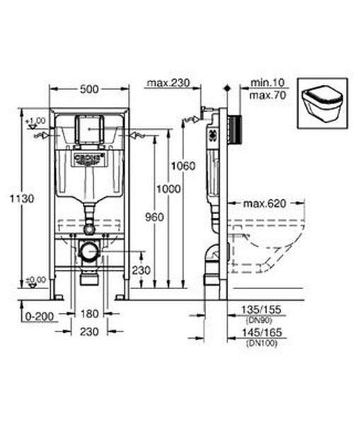RAPID SL 2в1 инсталляционная система для унитаза