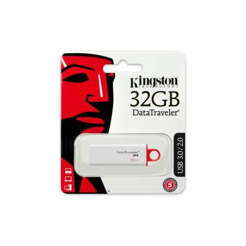 cumpără Kingston DataTraveler Generation 4 (G4) 32GB White/Red, USB3.0 în Chișinău