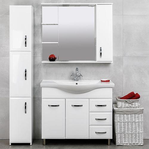 купить Allure Шкаф белый с умывальником Alba 1000 в Кишинёве