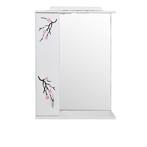 купить Sakura Шкаф-зеркало белое 600 L в Кишинёве