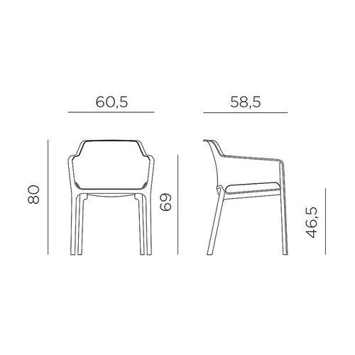купить Кресло Nardi NET BIANCO 40326.00.000.06 (Кресло для сада и террасы) в Кишинёве