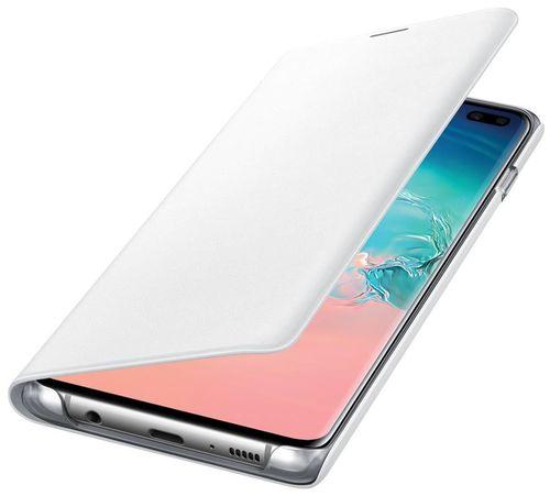 купить Чехол для моб.устройства Samsung EF-NG975 LED View Cover S10+ White в Кишинёве