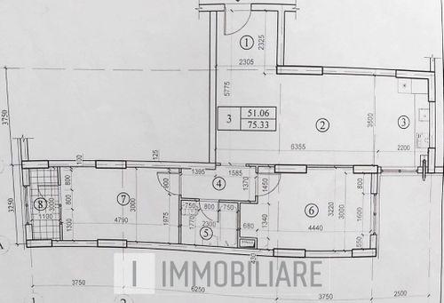 Apartament cu 2 camere+living, sect. Botanica, str. Grenoble.