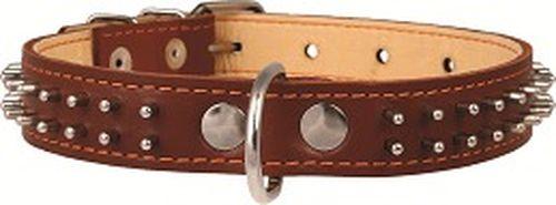 """купить ошейник """"Collar"""" двойной с шипами в 2 ряда, 25мм* 38-50см, 0233, черный, коричневый в Кишинёве"""