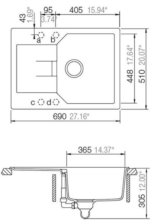 купить Мойка кухонная Schock Cristalite Manhattan D-100 в Кишинёве