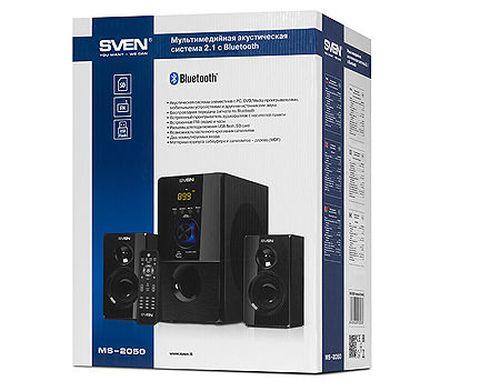 купить Active Speakers SVEN MS-2050 Black, mini music system: LED display, remote, Bluetooth, FM Tuner, USB port, SD slot ( 2.1 surround, RMS 55W, 30W subwoofer, 2x12.5W Satellites ), www в Кишинёве
