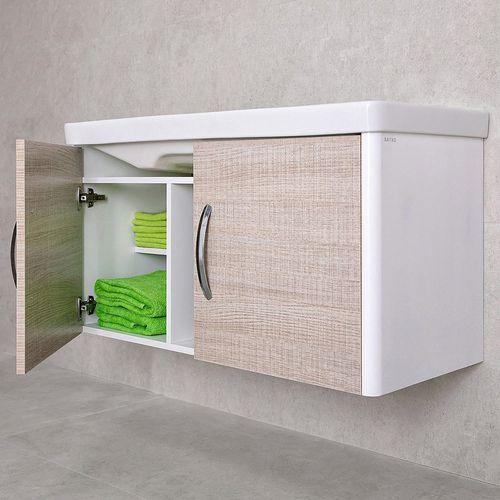 купить Vista Шкаф светлый полилак с умывальником Luxor 1050 Подвесной в Кишинёве