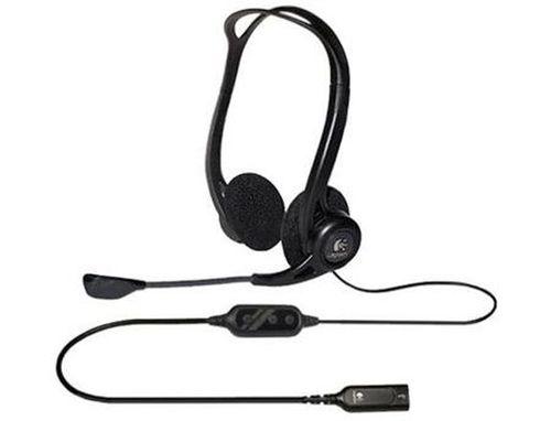купить Logitech 960 Black USB PC Stereo Headset, Headset: 20–20,000 Hz, Mic: 100–16,000 Hz, 2.4m, 981-000100 (casti cu microfon/наушники с микрофоном) в Кишинёве