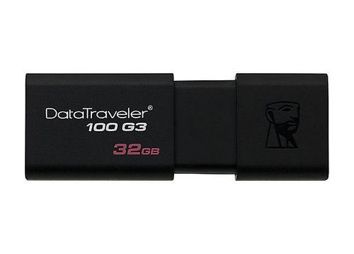 cumpără Kingston DataTraveler 100 Generation 3 (G3) 32GB Black, USB 3.0, Retractable USB connector în Chișinău