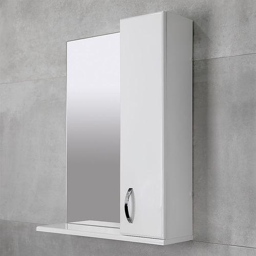 купить Bris Шкаф-зеркало белое 600 R в Кишинёве
