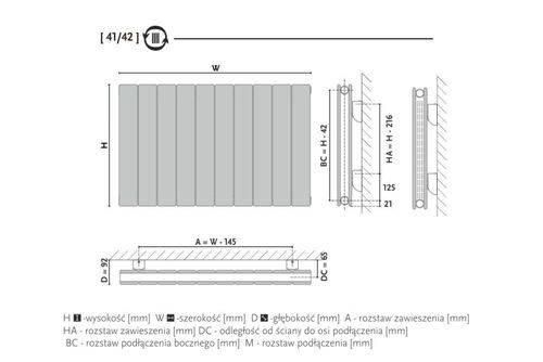 купить Дизайнерский радиатор GORGIEL ALTUS AHV2 50/80 в Кишинёве